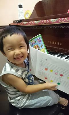 ピアノ導入(2才〜3才)