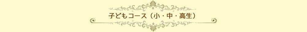子どもコース(小・中・高生)
