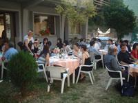ジャルディーノ(庭)で食事。